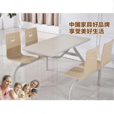 天津连体餐桌椅 肯德基餐桌椅
