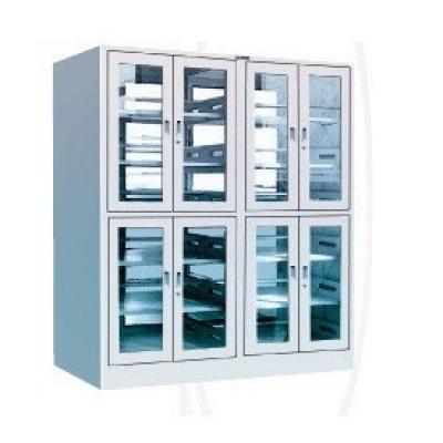 玻璃门书柜|天津学校家具|学校书架